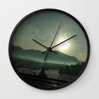 german Wall Clocks featuring German Horizon by Lucas Brown