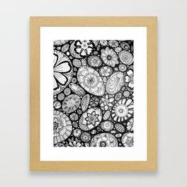 Stone doodle Framed Art Print