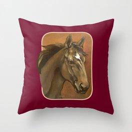 Sound Reason - Thoroughbred Stallion Throw Pillow