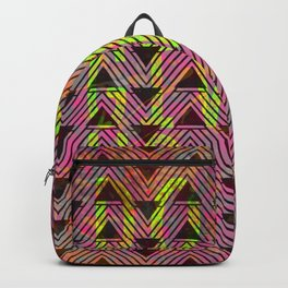 Don't Give Up Quote with Geometric Triangle Pattern Backpack