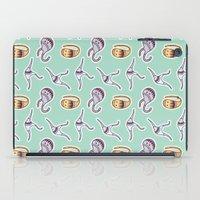 sticker iPad Cases featuring sticker monster pattern 1 by freshinkstain