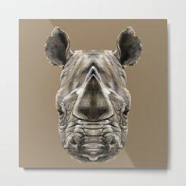 Rhino Sym Metal Print