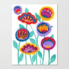 raw flower garden Canvas Print