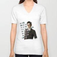 david tennant V-neck T-shirts featuring DON'T BLINK! David Tennant - Doctor Who by KanaHyde