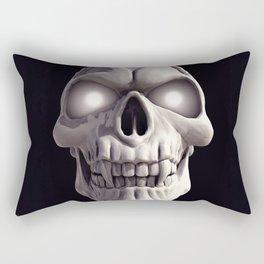 Skull with glowing eyes Rectangular Pillow