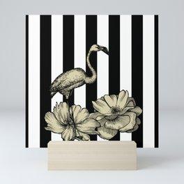 Stripes Flamingo Mini Art Print