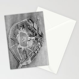 Liberty Island Black and White Photograph (1921) Stationery Cards