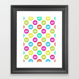 My bright lips Framed Art Print