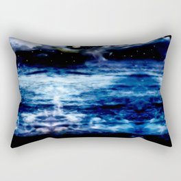 Blue Night Sky Rectangular Pillow