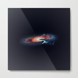 Space Shark Metal Print