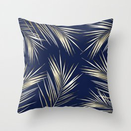 Tropical Leaves 5 Throw Pillow