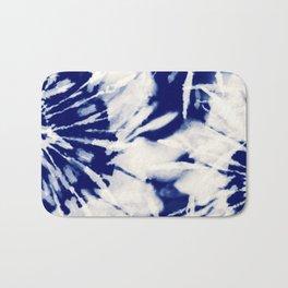 vivid blue tie dye Bath Mat
