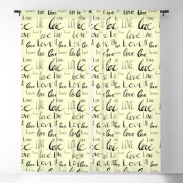 Words of Love // Pale Yellow Blackout Curtain