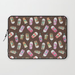 Coffee Crazy Toss in Expresso Brown Laptop Sleeve