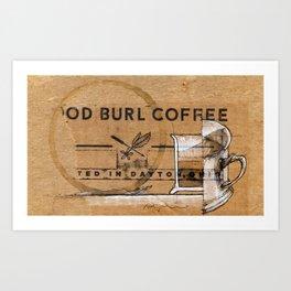 Wood Burl Coffee Art Art Print
