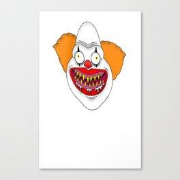 Cannibal Clown T-shirt Canvas Print