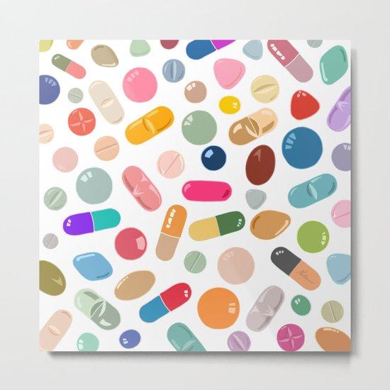 Sunny Pills Metal Print