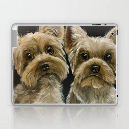 Yorkie Painting, Cute Yorkie's, Pet Art Laptop & iPad Skin