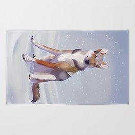 Snow Dog Rug