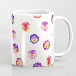 Watercolor pansies pattern Coffee Mug