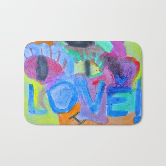 Summer Love   Painting by Elisavet Bath Mat
