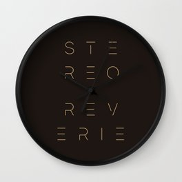 Stereo Reverie Stack Wall Clock