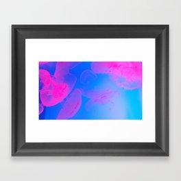 Pink Moon Glow Framed Art Print