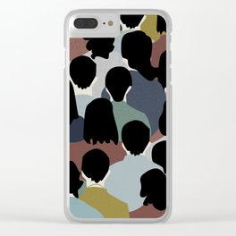 STANDING IN A CROWD Clear iPhone Case