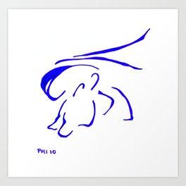 perro en la orilla de la playa Art Print