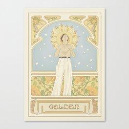 (You're so) Golden Art Noueau Canvas Print