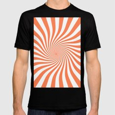 Swirl (Coral/White) Mens Fitted Tee MEDIUM Black