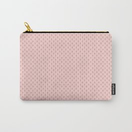 Hedgehog Forest Friends All-Over Repeat Pattern on Baby Pink Carry-All Pouch