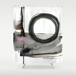 Enso Abstraction No. 112 by Kathy morton Stanion Shower Curtain