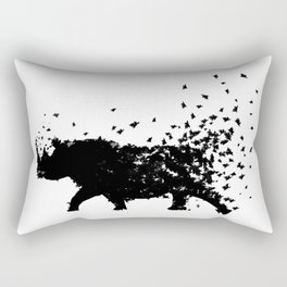 Save the Rhinos fading away Rectangular Pillow