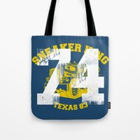 sneaker Tote Bags featuring Sneaker King by Kristian Boserup