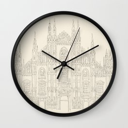 Cathedral of Milan Wall Clock