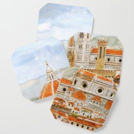 Italy Florence Cathedral Duomo watercolor painting Coaster