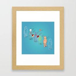 anatomy exploded Framed Art Print