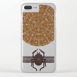 Sacred Sun Clear iPhone Case