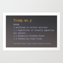 Trumpery Art Print