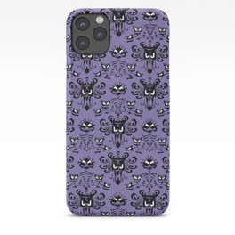 Purple Haunted Mansion Wallpaper iPhone Case
