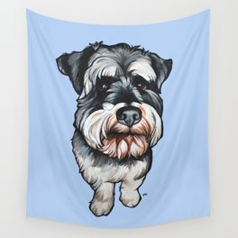 Barney the Miniature Schnauzer Wall Tapestry