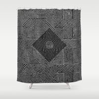 fifth harmony Shower Curtains featuring Harmony by Josh Franke