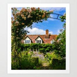 Cottage garden. v2 Art Print