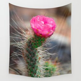 Blooming Cactus Wall Tapestry