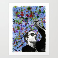 godard Art Prints featuring Jean-Luc Godard by Abominable Ink by Fazooli