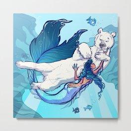 arctic mermaid Metal Print