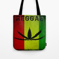 reggae Tote Bags featuring REGGAE by shannon's art space