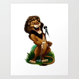 Lion Song Art Print