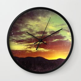 American Sunset As Vintage Album Art Wall Clock